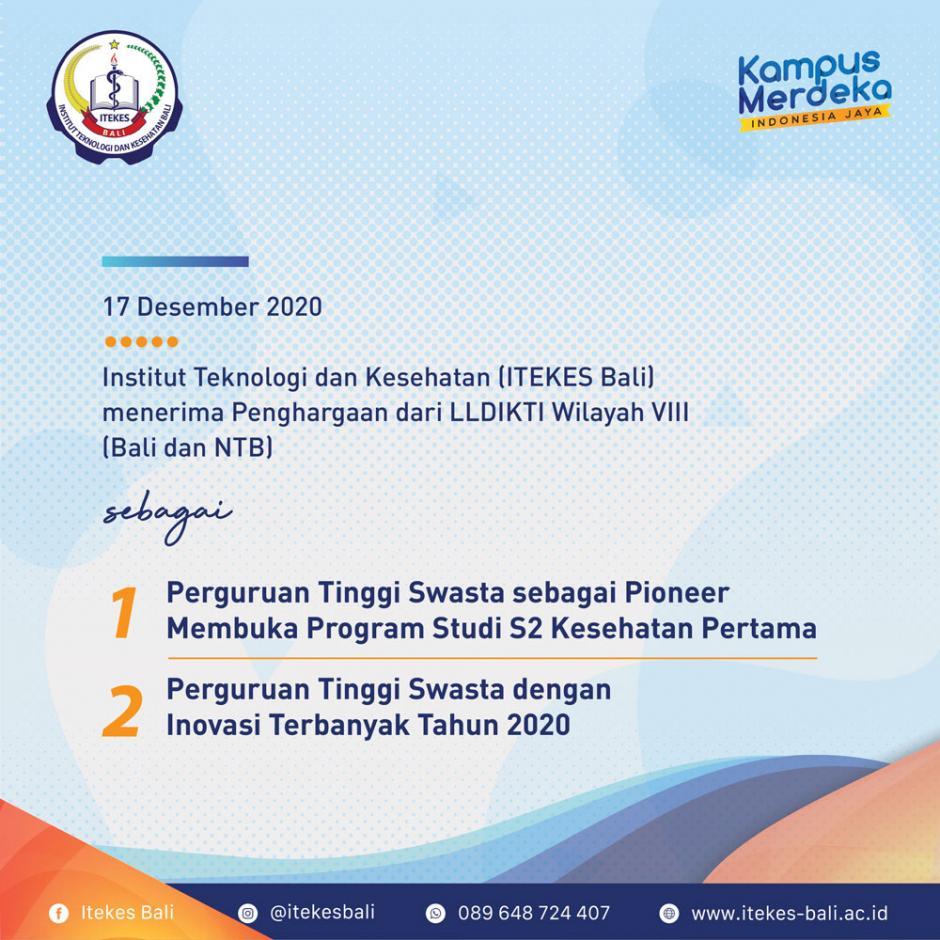 Penghargaan ITEKES Bali dari LLDIKTI Wilayah VIII